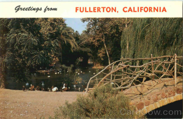 Duck Pond In Hillcrest Park Fullerton