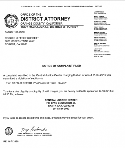 Corbett Complaint