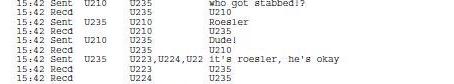 Roelser Got Stabbed