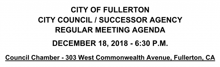 18Dec2018 Council Meeting