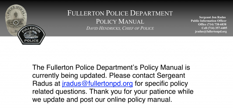 FPD Policy Manual