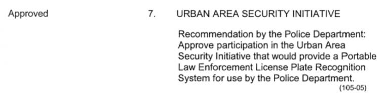 Urban Area Security Initiative