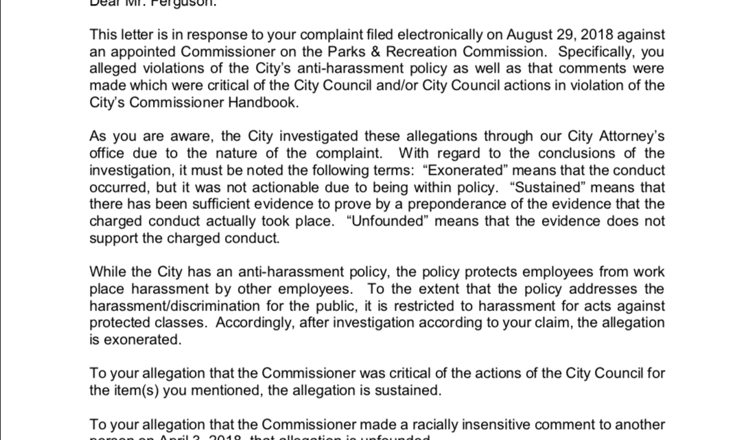 Cox Complaint Sustained