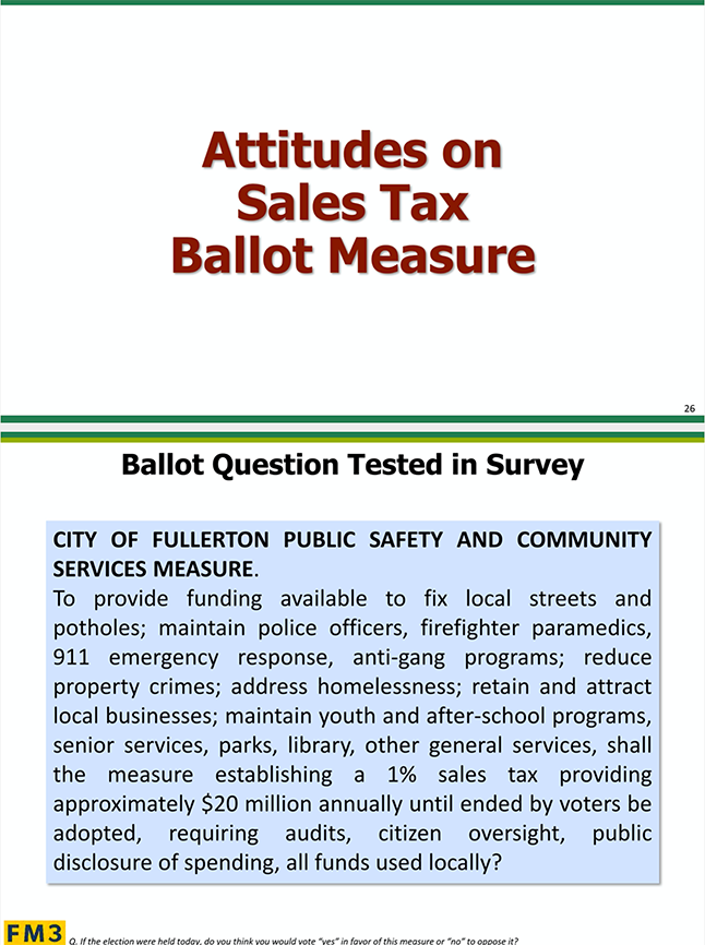 Sales Tax Ballot Q Survey