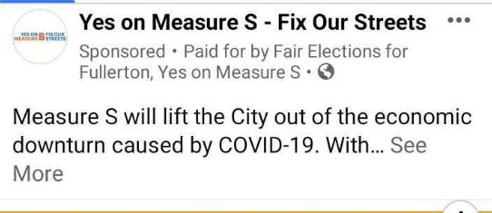 Measure S Covid Lie