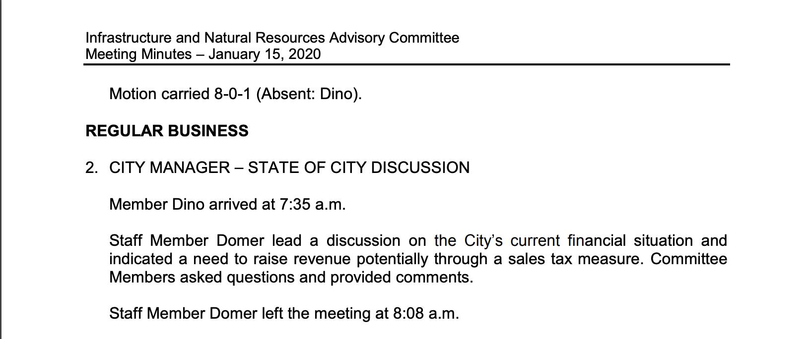 Sales Tax on INRAC
