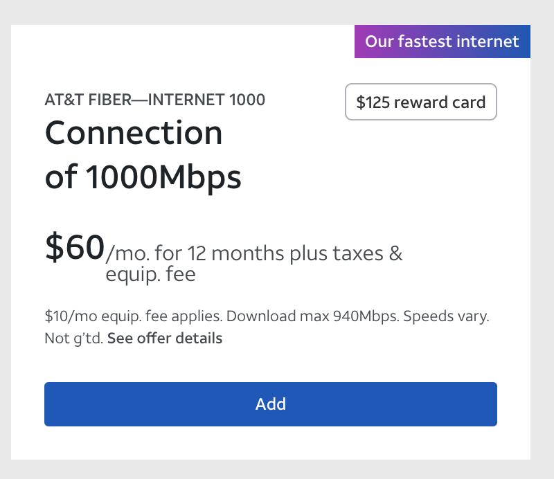 ATT Pricing