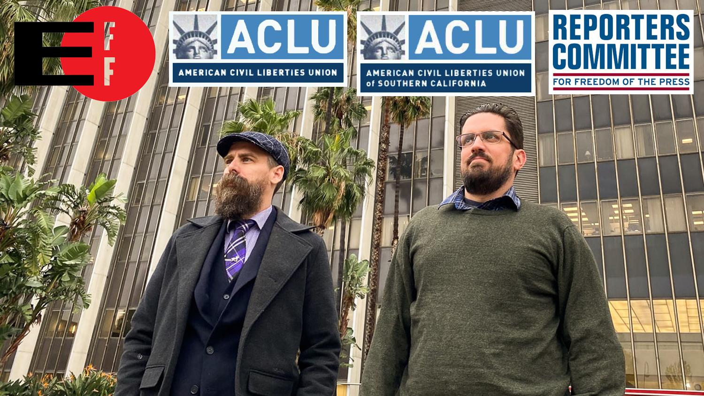 ACLU, EFF, RCFP, ACLU SoCal