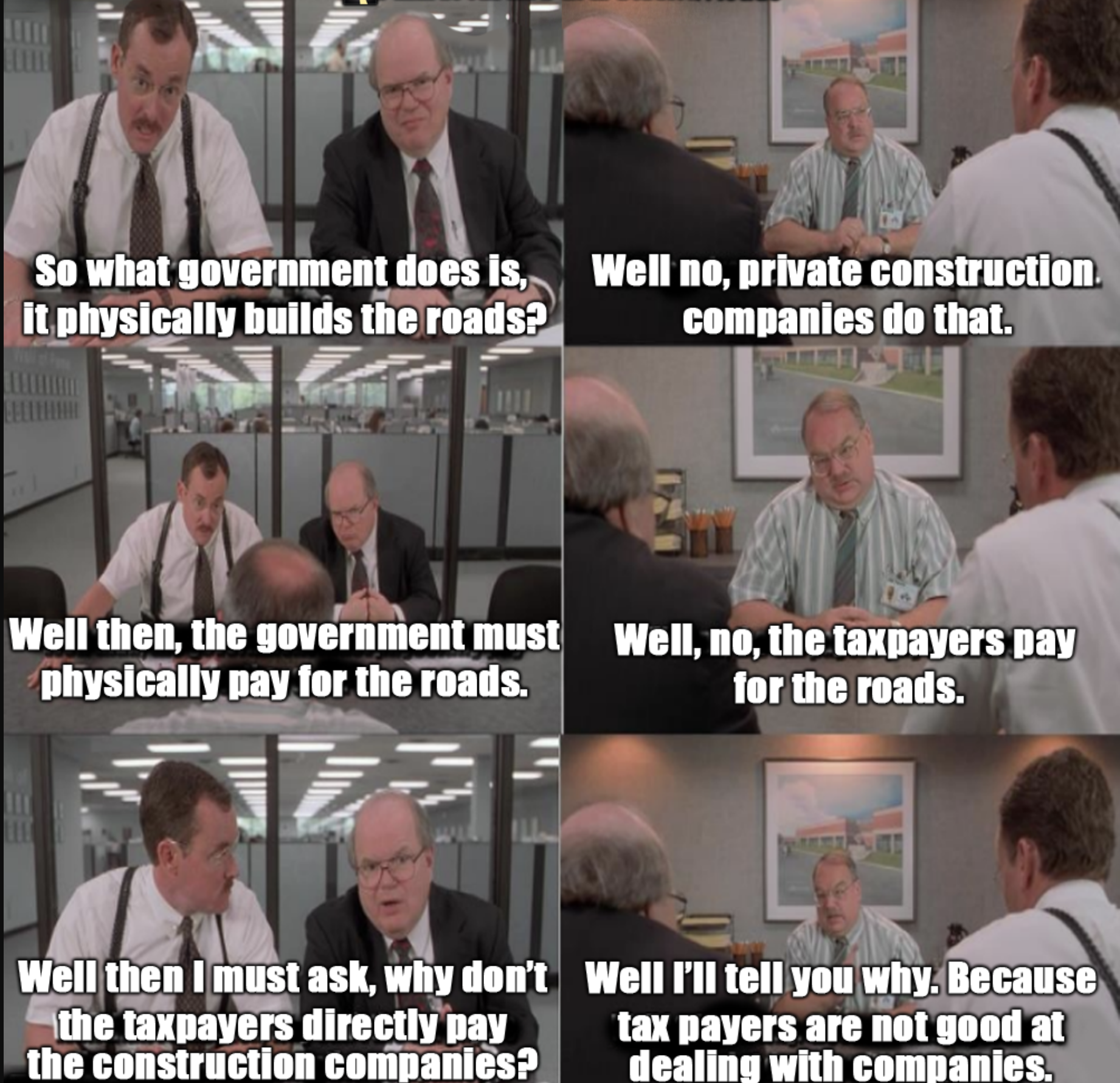 Office Space Roads Meme