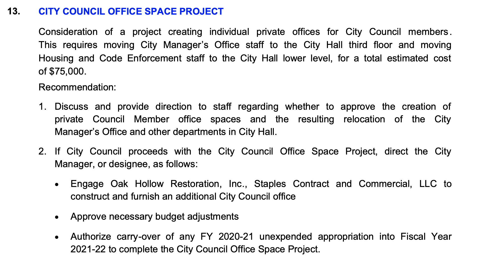Agenda - Council Office Spave