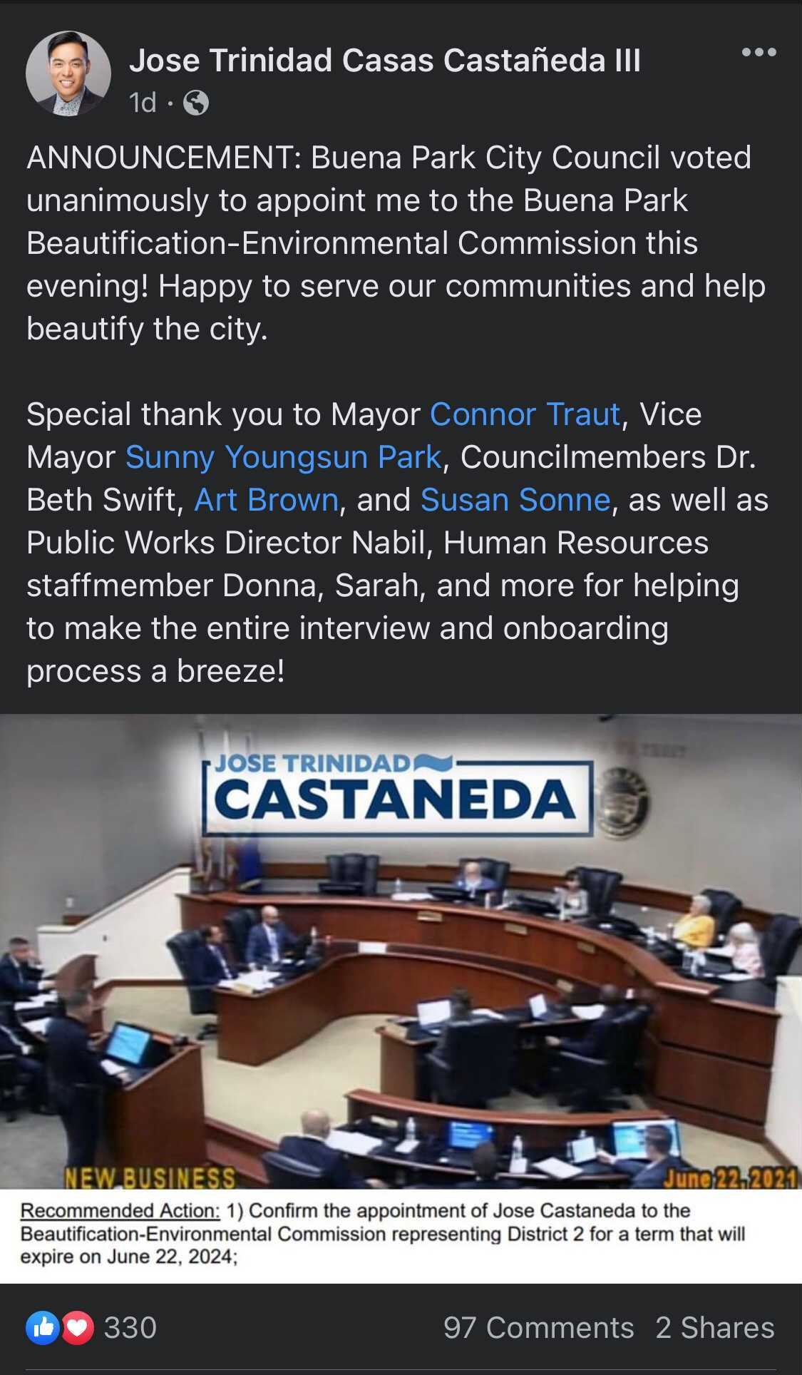 Castaneda - BP - Commission